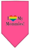 Doggy Stylz Dog-products New Bright Pink / Small I Heart My Mommies Screen Print Bandana