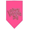 Doggy Stylz Dog-products New Pet Products Bright Pink / Small Happy Valentines Day Rhinestone Bandana