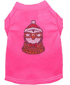 Doggy Stylz Dog-products New! Bright Pink / XXL Hipster Penguin Rhinestone Dog Shirt
