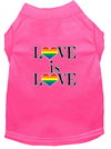 Doggy Stylz Dog-products New Bright Pink / XXL Love Is Love Screen Print Dog Shirt