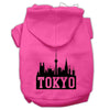 Doggy Stylz Dog-products Pet Apparel Bright Pink / XXL Tokyo Skyline Screen Print Pet Hoodies Size