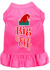 Doggy Stylz Dog-products New Bright Pink / XXXL Big Elf Screen Print Dog Dress