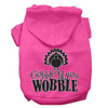 Doggy Stylz Dog-products New Bright Pink / XXXL Gobble Til You Wobble Screen Print Dog Hoodie