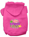 Doggy Stylz Dog-products New Bright Pink / XXXL Miss Mardi Gras Screen Print Mardi Gras Dog Hoodie