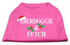 Doggy Stylz Dog-products New Pet Products Bright Pink / XXXL Aberdoggie Christmas Screen Print Shirt
