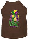 Doggy Stylz Dog-products New Brown / Extra Large Mardi Gras King Screen Print Mardi Gras Dog Shirt