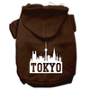 Doggy Stylz Dog-products Pet Apparel Brown / Extra Large Tokyo Skyline Screen Print Pet Hoodies Size