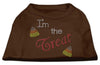 Doggy Stylz Dog-products New Pet Products Brown / Extra Small I'm The Treat Rhinestone Dog Shirt