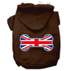 Doggy Stylz Dog-products Pet Apparel Brown / Large Bone Shaped United Kingdom (union Jack) Flag Screen Print Pet Hoodies