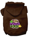 Doggy Stylz Dog-products New Brown / Small Miss Mardi Gras Screen Print Mardi Gras Dog Hoodie