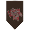 Doggy Stylz Dog-products New Pet Products Brown / Small Happy Valentines Day Rhinestone Bandana