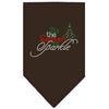 Doggy Stylz Dog-products New! Brown / Small Tis The Season To Sparkle Rhinestone Bandana