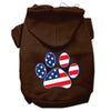 Doggy Stylz Dog-products Pet Apparel Brown / Small Patriotic Paw Screen Print Pet Hoodies