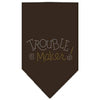 Doggy Stylz Dog-products Dog Bandanas Cocoa / Large Trouble Maker Rhinestone Bandana