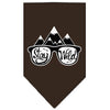 Doggy Stylz Dog-products New! Cocoa / Large Stay Wild Screen Print Bandana