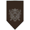 Doggy Stylz Dog-products Dog Bandanas Cocoa / Small Fleur De Lis Shield Rhinestone Bandana