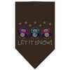 Doggy Stylz Dog-products Holiday Pet Products Cocoa / Small Let It Snow Penguins Rhinestone Bandana