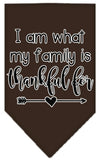Doggy Stylz Dog-products New Cocoa / Small I Am What My Family Is Thankful For Screen Print Bandana