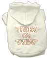 Doggy Stylz Dog-products Holiday Pet Products Cream / Extra Large Trick Or Treat Rhinestone Hoodies
