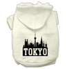Doggy Stylz Dog-products Pet Apparel Cream / Extra Large Tokyo Skyline Screen Print Pet Hoodies Size
