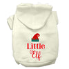 Doggy Stylz Dog-products New Cream / Extra Small Little Elf Screen Print Dog Hoodie