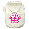 Doggy Stylz Dog-products Pet Apparel Cream / Medium Argyle Paw Pink Screen Print Pet Hoodies Size