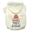 Doggy Stylz Dog-products New Cream / XXL Family, Food, And Football Screen Print Dog Hoodie
