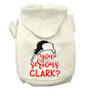Doggy Stylz Dog-products New Cream / XXL You Serious Clark? Screen Print Dog Hoodie