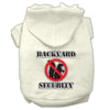 Doggy Stylz Dog-products New Pet Products Cream / XXXL Backyard Security Screen Print Pet Hoodies
