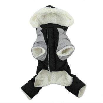 Doggy Stylz Dog-products Black and Grey Ruffin It Dog Snow Suit Harness