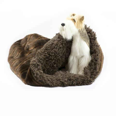 Doggy Stylz Dog-products Chocolate Sable with Chocolate Shag Cuddle Cup
