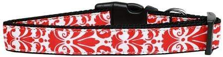 Doggy Stylz Dog-products Collars Damask Red Nylon Cat Collar