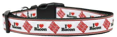 Doggy Stylz Dog-products Collars I Love Bacon Nylon Cat Collar