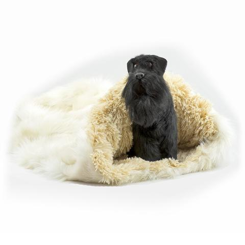 Doggy Stylz Dog-products Cream Fox with Camel Shag Cuddle Cup