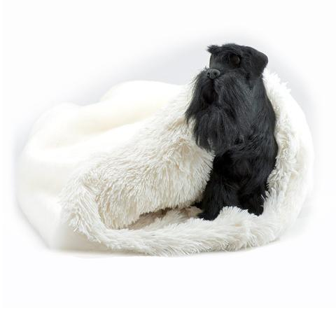 Doggy Stylz Dog-products Cream Smooth with Cream Shag Cuddle Cup
