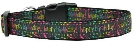 Doggy Stylz Dog-products Dog Collars And Leashes Happy Birthday Nylon Dog Collar Medium Narrow