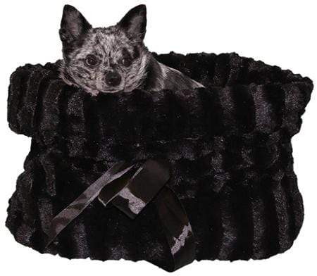 Doggy Stylz Dog-products General Black Reversible Snuggle Bugs Pet Bed, Bag, And Car Seat In One