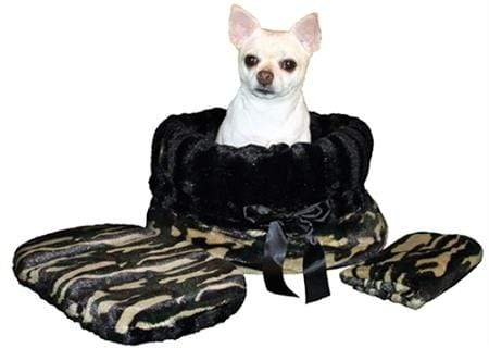 Doggy Stylz Dog-products General Camo Reversible Snuggle Bugs Pet Bed, Bag, And Car Seat In One