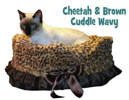 Doggy Stylz Dog-products General Cheetah Reversible Snuggle Bugs Pet Bed, Bag, And Car Seat In One