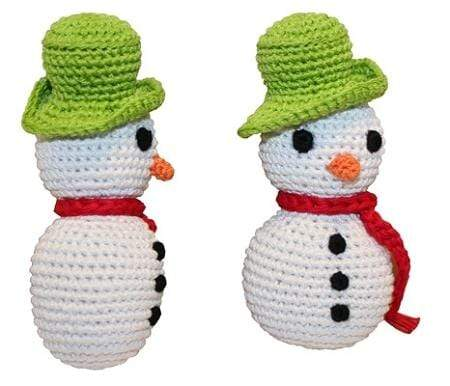 Doggy Stylz Dog-products General Holiday Knit Knack Frost The Snowman Organic Small Dog Toy