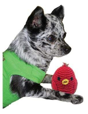 Doggy Stylz Dog-products General Knit Knacks Rockin Robin Organic Cotton Small Dog Toy