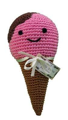 Doggy Stylz Dog-products General Knit Knacks Scoop The Ice Cream Cone Organic Cotton Small Dog Toy