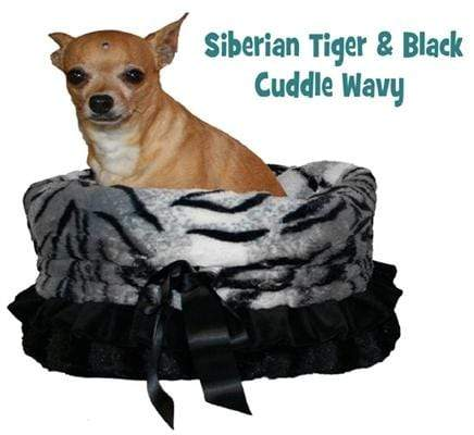 Doggy Stylz Dog-products General Siberian Tiger Reversible Snuggle Bugs Pet Bed, Bag, And Car Seat In One