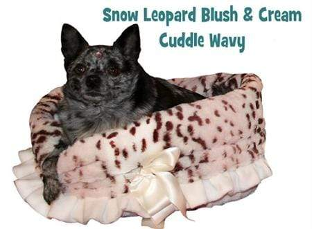 Doggy Stylz Dog-products General Snow Leopard Reversible Snuggle Bugs Pet Bed, Bag, And Car Seat In One