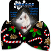 Doggy Stylz Dog-products Grooming Candy Cane Chaos Pet Bow Tie Accessory With Velcro
