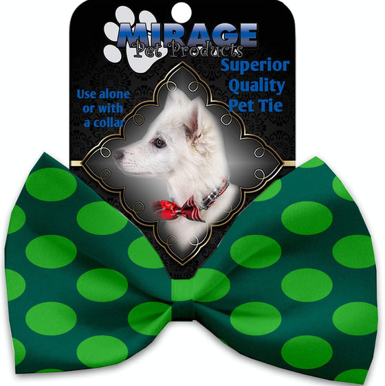 Doggy Stylz Dog-products Grooming Green On Green Dots Pet Bow Tie Accessory With Velcro
