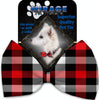 Doggy Stylz Dog-products Grooming Red And White Buffalo Check Pet Bow Tie Accessory With Velcro