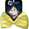 Doggy Stylz Dog-products Grooming Yellow Plaid Pet Bow Tie Accessory With Velcro