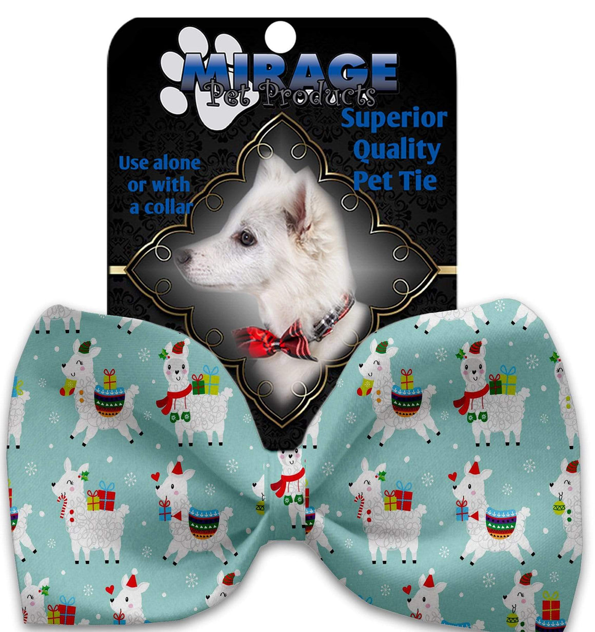 Doggy Stylz Dog-products New Holiday Llamas Pet Bow Tie