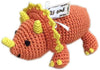 Doggy Stylz Dog-products New! Knit Knacks Bop The Triceratops Organic Cotton Small Dog Toy